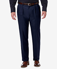 Haggar Men's Classic-Fit Premium Comfort Stretch Solid Dress Pants