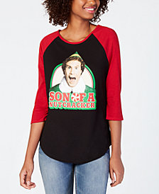 Love Tribe Juniors' Elf Graphic-Print 3/4-Sleeve T-Shirt