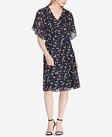 Lauren Ralph Lauren Satin-Striped Floral-Print Dress
