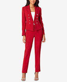 Tahari ASL Faux-Double-Breasted Jacket & Pants