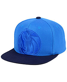 Mitchell & Ness Dallas Mavericks Cropped Satin Snapback Cap