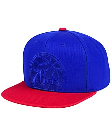 Mitchell & Ness Philadelphia 76ers Cropped Satin Snapback Cap