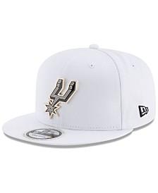 best website dc326 04fb2 New Era San Antonio Spurs Enamel Badge 9FIFTY Snapback Cap