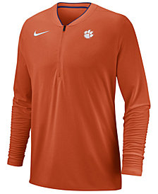 Nike Men's Clemson Tigers Coaches Quarter-Zip Pullover 2018
