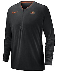 Nike Men's Oklahoma State Cowboys Coaches Quarter-Zip Pullover 2018