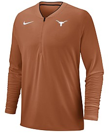 Nike Men's Texas Longhorns Coaches Quarter-Zip Pullover 2018