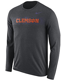 Nike Men's Clemson Tigers Legend Sideline Long Sleeve T-Shirt 2018