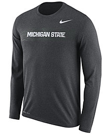 Nike Men's Michigan State Spartans Legend Sideline Long Sleeve T-Shirt 2018