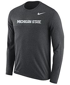 Nike Men's Michigan State Spartans Legend Sideline Long Sleeve T-Shirt 2018