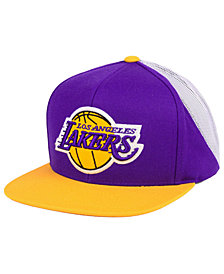 Mitchell & Ness Los Angeles Lakers Curved Mesh Snapback