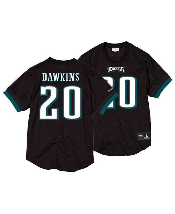 Mitchell & Ness Men's Brian Dawkins Philadelphia Eagles Mesh Name and Number Crewneck Jersey