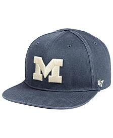 '47 Brand Michigan Wolverines Navy Go Shot Captain Snapback Cap