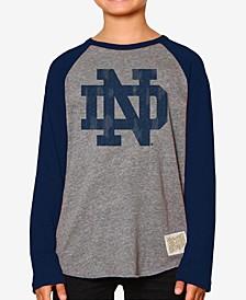 Notre Dame Fighting Irish Raglan Long Sleeve T-Shirt, Big Boys (8-20)