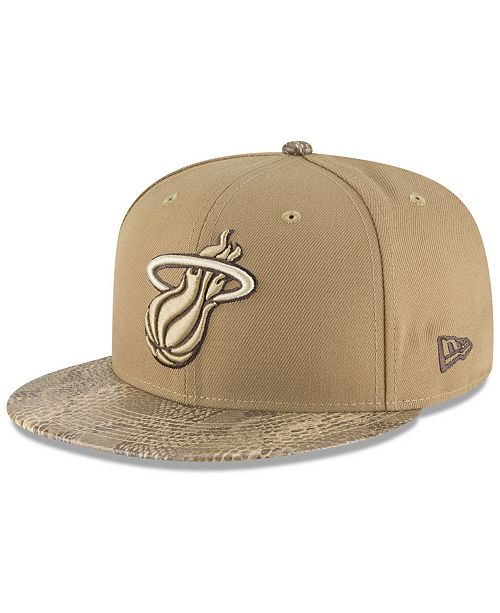 finest selection d27a2 88732 New Era. Miami Heat Snakeskin Sleek 59FIFTY FITTED Cap