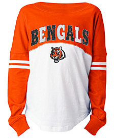 5th & Ocean Cincinnati Bengals Slub Long Sleeve T-Shirt, Girls (4-16)