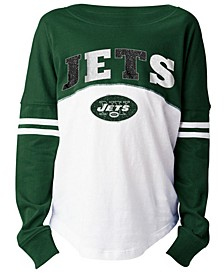 New York Jets Slub Long Sleeve T-Shirt, Girls (4-16)