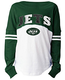 5th & Ocean New York Jets Slub Long Sleeve T-Shirt, Girls (4-16)