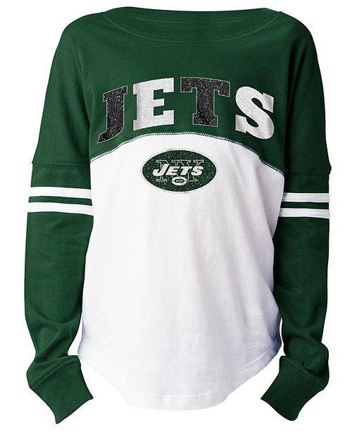 5th & Ocean New York Jets Slub Long Sleeve T-Shirt, Girls (4-16)