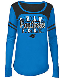 5th & Ocean Carolina Panthers Sleeve Stripe Long Sleeve T-Shirt, Girls (4-16)