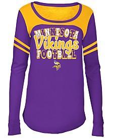 5th & Ocean Minnesota Vikings Sleeve Stripe Long Sleeve T-Shirt, Girls (4-16)