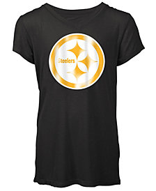 5th & Ocean Pittsburgh Steelers Logo T-Shirt, Girls (4-16)