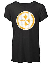 5th & Ocean Pittsburgh Steelers Logo T-Shirt, Girls (4-16)