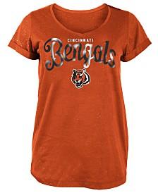 5th & Ocean Women's Cincinnati Bengals Script Logo T-Shirt
