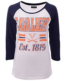 Women's Virginia Cavaliers Team Stripe Raglan T-Shirt