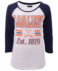 5th & Ocean Women's Virginia Cavaliers Team Stripe Raglan T-Shirt