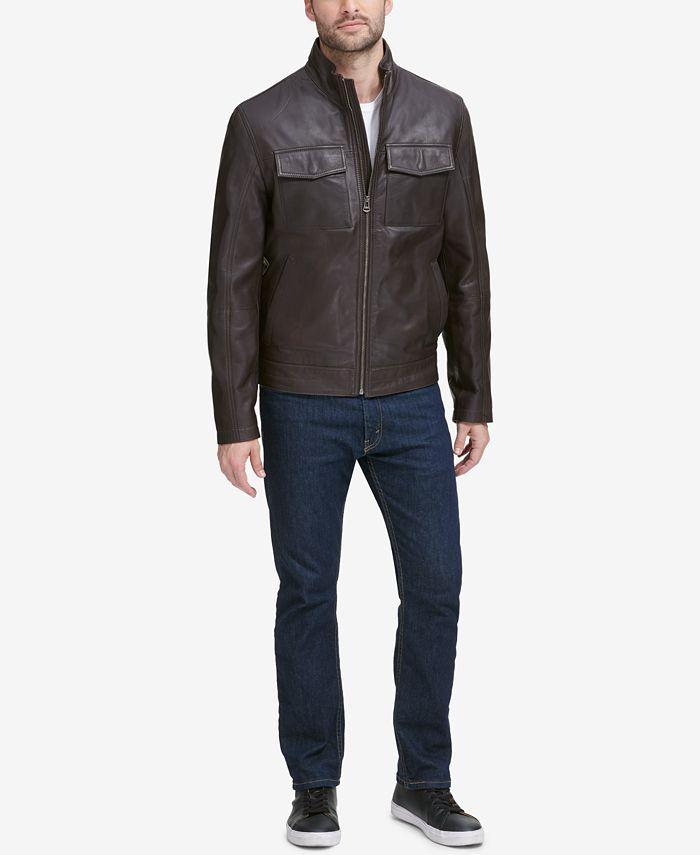 Cole Haan - Men's Leather Trucker Jacket