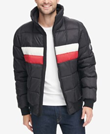 Tommy Hilfiger Men's Colorblocked Quilted Puffer Jacket