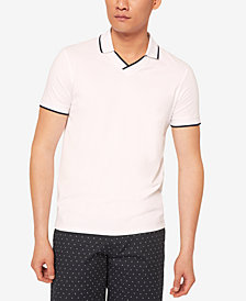 A|X Armani Exchange Men's V-Neck Tipped Polo