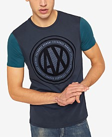 A|X Armani Exchange Men's Velvet Logo T-Shirt
