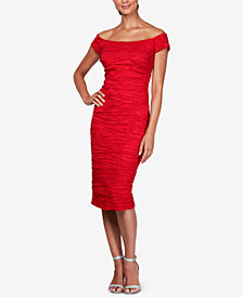 Alex Evenings Ruched Off-The-Shoulder Sheath Dress