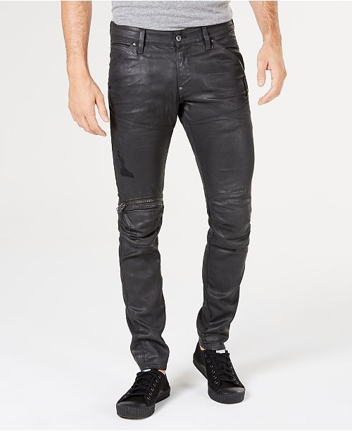 17acbca2e0a7ee G-Star Raw Men's 5620 Elwood 3D Super-Slim Fit Stretch Moto Jeans ...