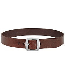 Calvin Klein Leather Plus-Size Pant Belt with Centerbar Buckle