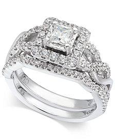 Diamond Princess Bridal Set (1 ct. t.w.) in 14k White Gold
