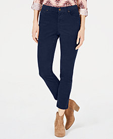 Style & Co Petite Tummy Control Corduroy Pants, Created for Macy's