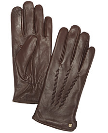 Lauren Ralph Lauren Whipstitched Points Touchscreen Leather Gloves