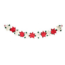 Global Goods Partners Felted Poinsettia Garland
