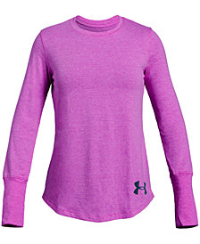 Under Armour Big Girls Finale Keyhole-Back T-Shirt