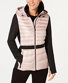 Calvin Klein Performance Colorblocked Hooded Down Jacket