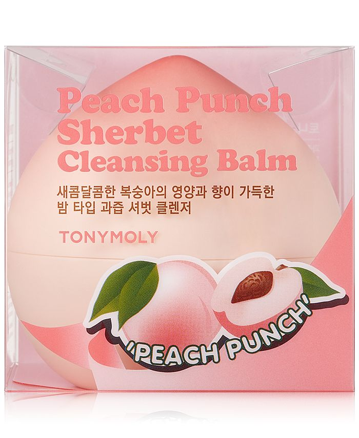 TONYMOLY - Peach Punch Sherbet Cleansing Balm