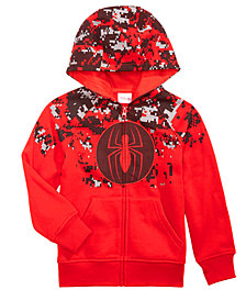 Marvel Little Boys Spider-Man Zip-Front Hoodie