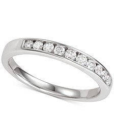 Diamond Channel-Set Band (1/3 ct. t.w.) in 14k White Gold