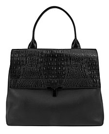 T Tahari Reese Pebble Leather Shopper