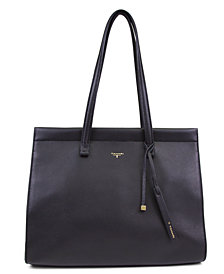 T Tahari Sienna Pebble Leather Tote