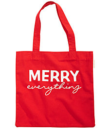 First Impressions Holiday Cotton Tote Bag, Created for Macy's