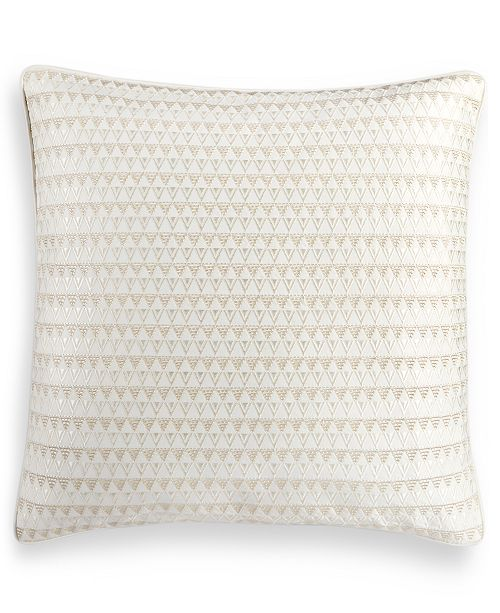 "Hotel Collection Alabastar 18"" Square Decorative Pillow, Created for Macy's"