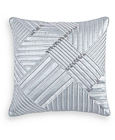 "Dimensional Embroidered 20"" Square Decorative Pillow, Created for Macy's"